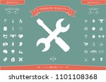 settings icon   wrench and... | Shutterstock .eps vector #1101108368