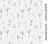 abstract flower seamless... | Shutterstock . vector #1101110345