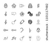 key icon. collection of 25 key... | Shutterstock .eps vector #1101117482