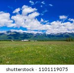 beautiful view of a small...   Shutterstock . vector #1101119075
