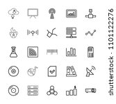 data icon. collection of 25... | Shutterstock .eps vector #1101122276