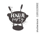 fondue party. traditional swiss ...   Shutterstock .eps vector #1101123302