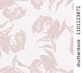 peony flower silhouette... | Shutterstock .eps vector #1101123872
