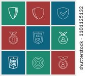 honor icon. collection of 9... | Shutterstock .eps vector #1101125132
