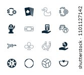 play icon. collection of 16... | Shutterstock .eps vector #1101127142