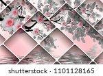 3d wallpaper design with... | Shutterstock . vector #1101128165