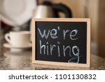 we'ra hiring notice on a small... | Shutterstock . vector #1101130832