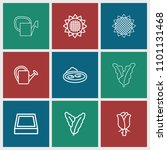 flora icon. collection of 9... | Shutterstock .eps vector #1101131468