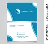modern blue name card and... | Shutterstock .eps vector #1101132365