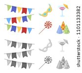 garlands  cocktail and other... | Shutterstock .eps vector #1101133382