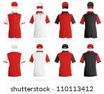 plain polo t shirt template. | Shutterstock .eps vector #110113412