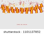 spain garland flag with... | Shutterstock .eps vector #1101137852