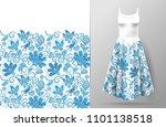 seamless vertical fantasy... | Shutterstock .eps vector #1101138518