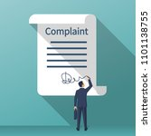 complaint concept. man wrote a... | Shutterstock .eps vector #1101138755