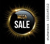 vector mega sale design... | Shutterstock .eps vector #1101145112