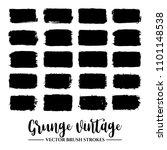 set of black brush stroke and... | Shutterstock .eps vector #1101148538