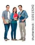 students friends standing... | Shutterstock . vector #110115242