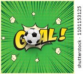 goal word with realistic soccer ... | Shutterstock .eps vector #1101153125