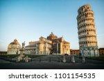 leaning tower of pisa in pisa ... | Shutterstock . vector #1101154535