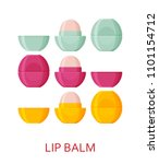 lip balm set. cosmetic icons... | Shutterstock .eps vector #1101154712