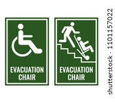 evacuation chair green... | Shutterstock .eps vector #1101157022