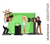 producer is furious | Shutterstock .eps vector #1101157115
