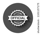 official grunge rubber stamp.... | Shutterstock .eps vector #1101157175