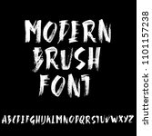 handdrawn dry brush font.... | Shutterstock .eps vector #1101157238