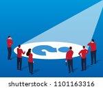businessmen find problems | Shutterstock .eps vector #1101163316