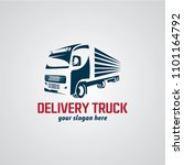 delivery truck logo designs... | Shutterstock .eps vector #1101164792