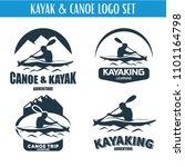 canoe or kayaking logo designs... | Shutterstock .eps vector #1101164798