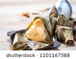 zongzi rice dumpling  with a... | Shutterstock . vector #1101167588
