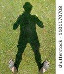 a man's shadow | Shutterstock . vector #1101170708