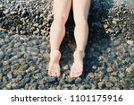 slender legs of a young girl... | Shutterstock . vector #1101175916