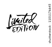 limited edition. ink... | Shutterstock .eps vector #1101176645