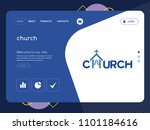 quality one page church website ...