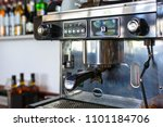 classic italian coffee machine... | Shutterstock . vector #1101184706