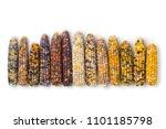 Row Of Fresh Raw Colorful Gem...