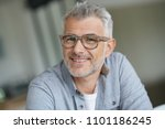 middle aged guy with trendy... | Shutterstock . vector #1101186245