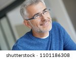 middle aged guy with eyeglasses ... | Shutterstock . vector #1101186308