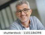 middle aged guy with trendy... | Shutterstock . vector #1101186398