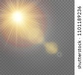 vector transparent sunlight... | Shutterstock .eps vector #1101189236