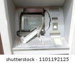 Atm Machine With Broken Glass...