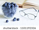 bilberry cure for eyes concept... | Shutterstock . vector #1101192326