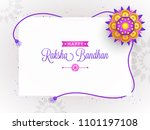 rakhi  indian brother and... | Shutterstock .eps vector #1101197108