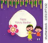 rakhi  indian brother and... | Shutterstock .eps vector #1101197132