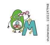 english letter m. monster.... | Shutterstock .eps vector #1101197948