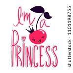 i am a princess. t dirty design ... | Shutterstock .eps vector #1101198755