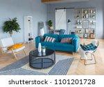 elegant fashionable interior of ...   Shutterstock . vector #1101201728