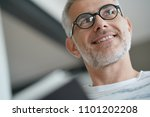 trendy mature guy with... | Shutterstock . vector #1101202208